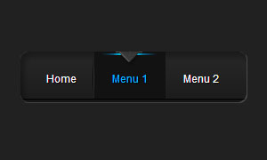 纯CSS3实现黑色酷炫导航