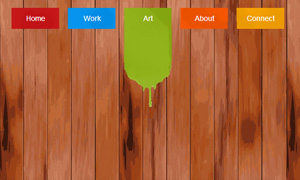 jQuery导航下拉滑动油漆刷墙效果