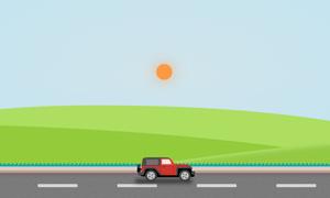 HTML5+CSS3实现超酷吉普车动画