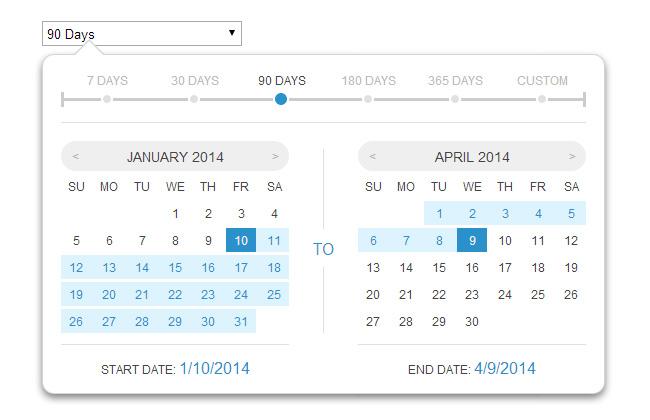 HTML5+CSS3带日期区间选择插件