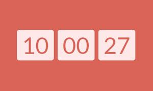 jQuery+CSS3实现跳动的数字时钟