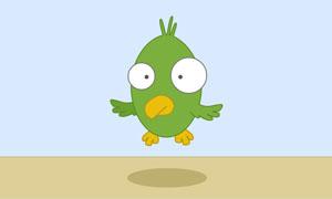 HTML5 SVG可爱的小鸟卡通动画