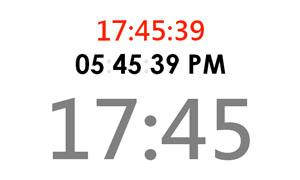 jQuery数字时钟表时分秒时钟走动