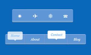 HTML5+CSS3鼠标滑过图标悬浮菜单
