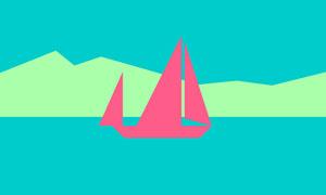 纯css3制作小船游动动画特效