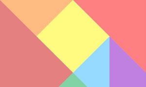 html5 canvas绘制多个图形的七巧板代码