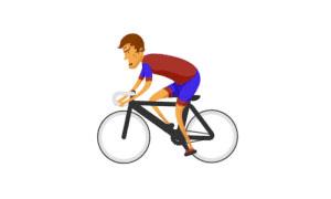 css3制作2016奥运会小人骑自行车动画特效