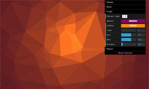 Canvas低多边形背景生成器代码