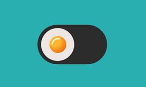 基于json创意荷包蛋开关切换特效