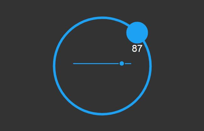html5 svg鼠标拖动圆形进度代码