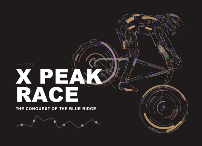 html5 svg流动的线条自行车动画特效