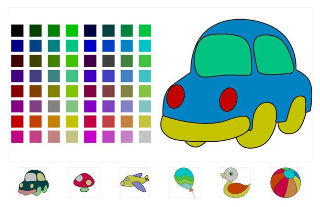 html5 canvas填色画益智游戏下载