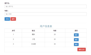 vue.js添加用户信息表格数据代码