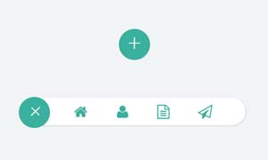 jquery圆形按钮弹性展开工具栏菜单特效