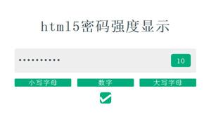 vue.js密码强度验证代码