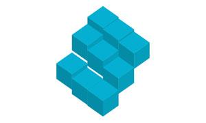 纯css3制作方块跌打起伏加载特效