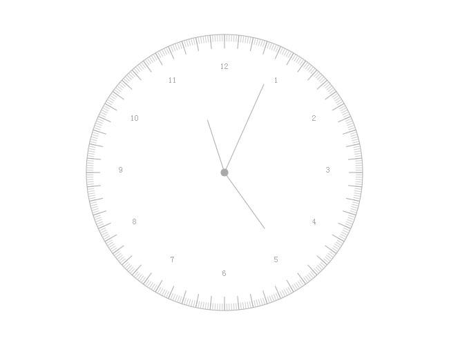 html5 canvas写的指针时钟特效