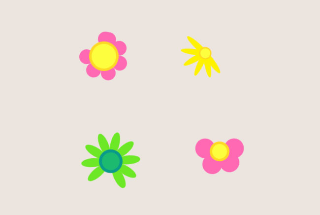 纯css3花朵样式loading加载特效