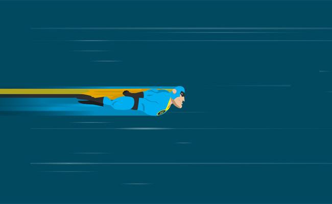 css3 svg制作超人飞行动画特效