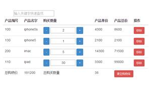 angular.js商品购物车结算插件