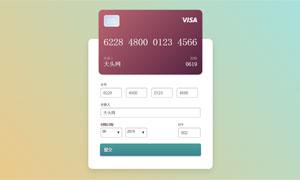 jquery交互式信用卡信息填写样式