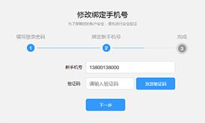 js输入密码修改绑定手机号表单代码
