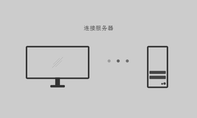 电脑连接服务器加载中css3特效