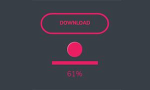 jquery点击下载按钮进度条加载特效
