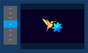 jquery背景同步切换垂直选项卡代码