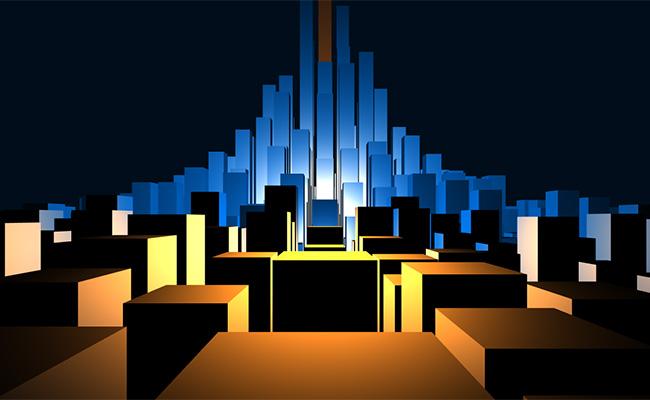 html5 canvas城市模型动画特效