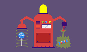 html5 svg糖果机器人动画特效