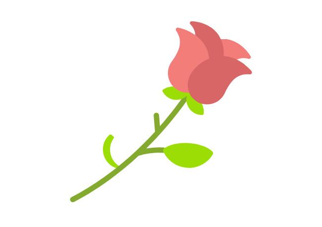 html5 svg植物生长玫瑰花动画特效