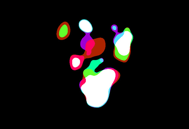 纯css3彩色粘稠气泡翻滚动画特效