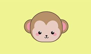 纯css3制作会动的猴子头像特效
