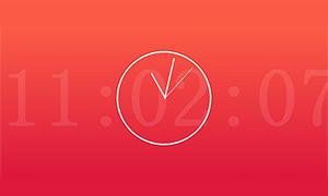 js数字时钟作为背景的指针时钟代码
