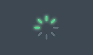 js+css3制作发光loading加载特效