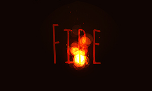 html5 canvas火焰跟随鼠标点燃特效