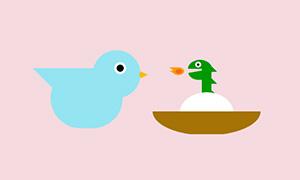 纯css3绘制小鸟孵蛋动画特效