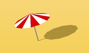 纯css3绘制沙滩太阳伞旋转特效