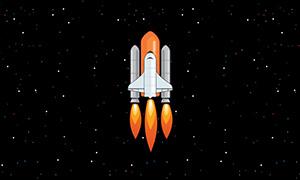 TweenMax.js航天火箭发射动画特效