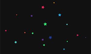 canvas五角星漂浮背景动画特效