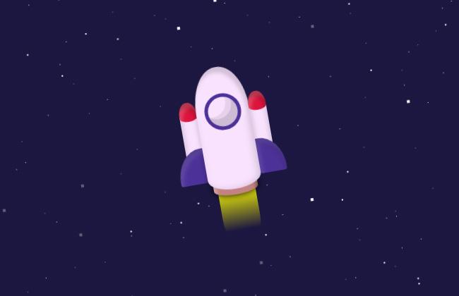 纯css3火箭升空鼠标控制方向特效
