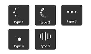 jquery制作5种网页loading加载特效
