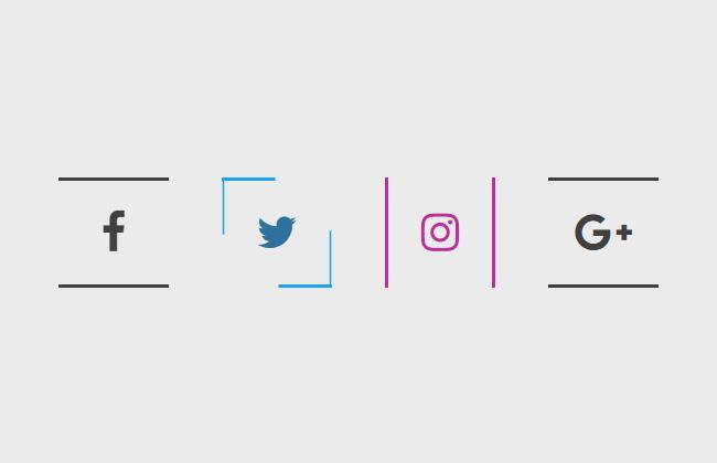 css3按钮鼠标经过显示线框特效