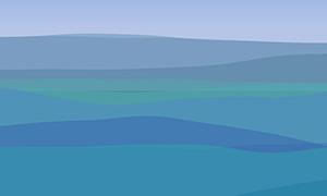 p5.js海水波浪翻滚动画特效