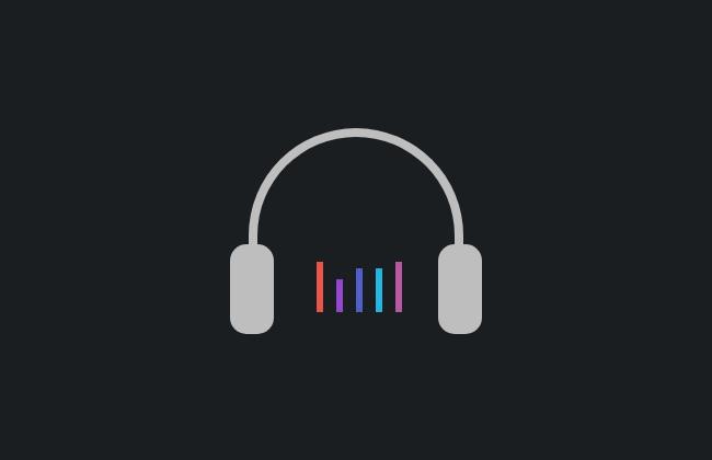 纯css3动态耳机音乐阶梯动画特效