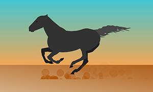 纯css3马匹奔跑动画特效