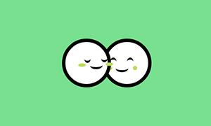 纯css3制作情侣汤圆亲吻表白代码