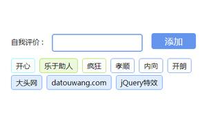 jquery个人自我评价标签代码