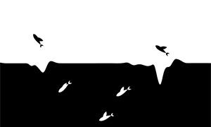 jquery河面上鱼群跳跃动画特效